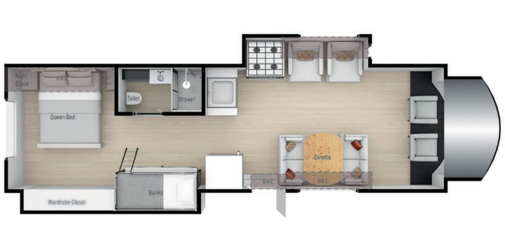 View Floor Plan for 2021 NEXUS RV TRIUMPH 32T