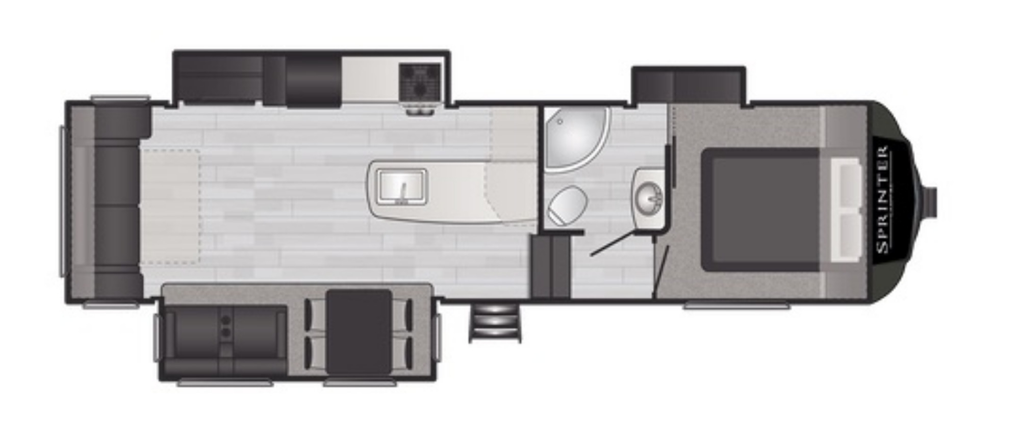 View Floor Plan for 2021 KEYSTONE SPRINTER CAMPFIRE 29RL