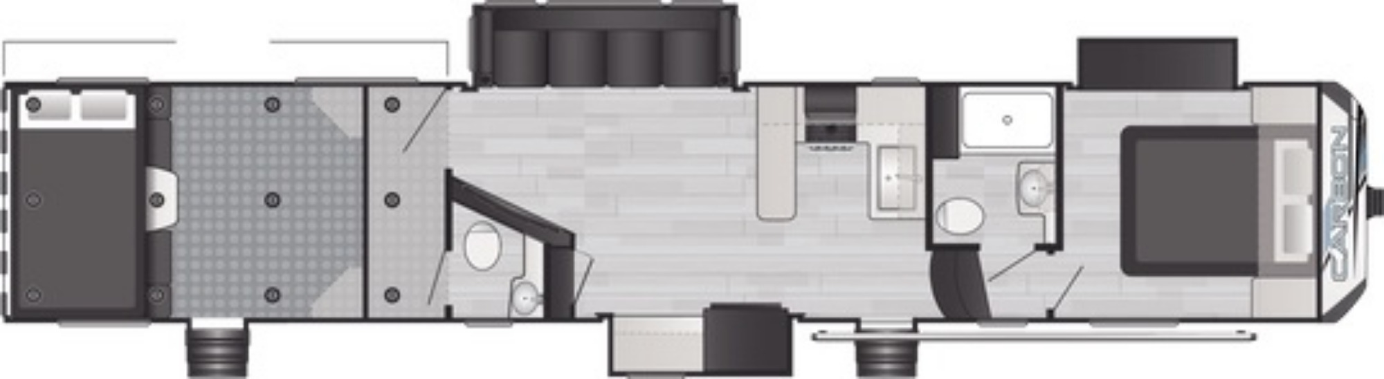 View Floor Plan for 2021 KEYSTONE CARBON 418