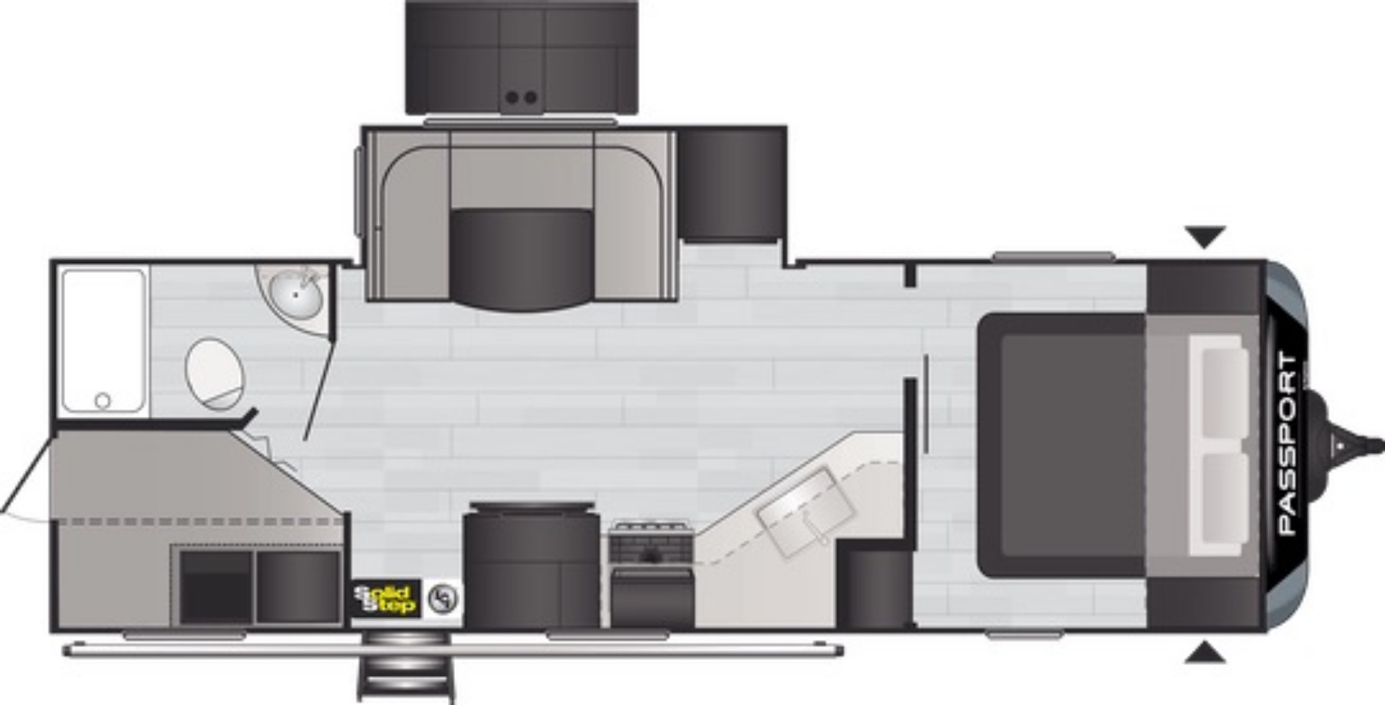 View Floor Plan for 2021 KEYSTONE PASSPORT 2600BH