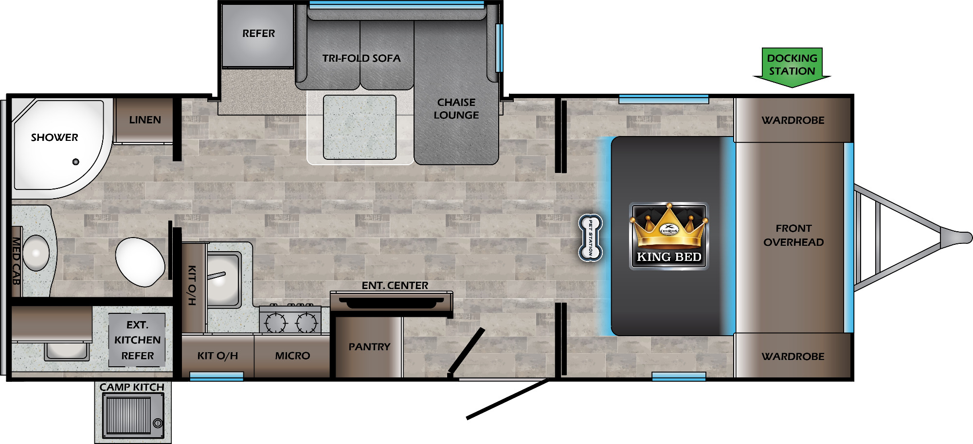 View Floor Plan for 2021 CROSSROADS SUNSET TRAIL 222RB