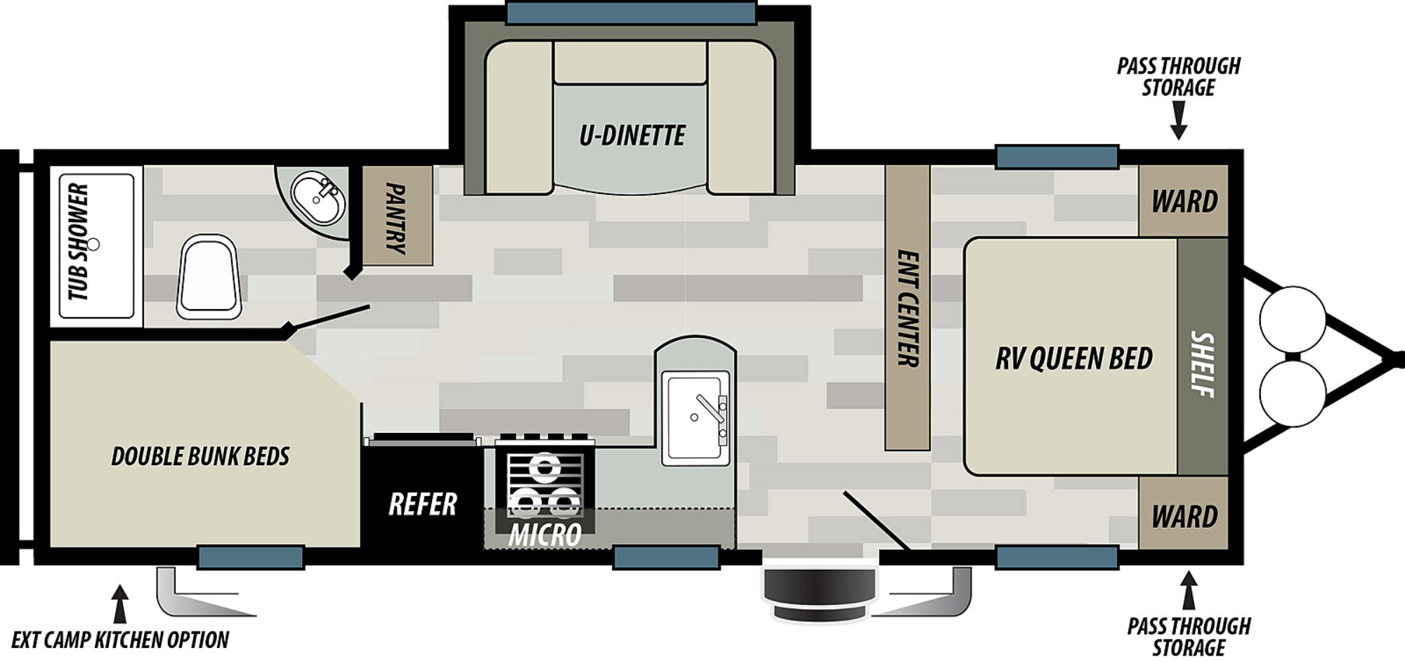 View Floor Plan for 2021 FOREST RIVER WILDWOOD X-LITE 241BHXLC