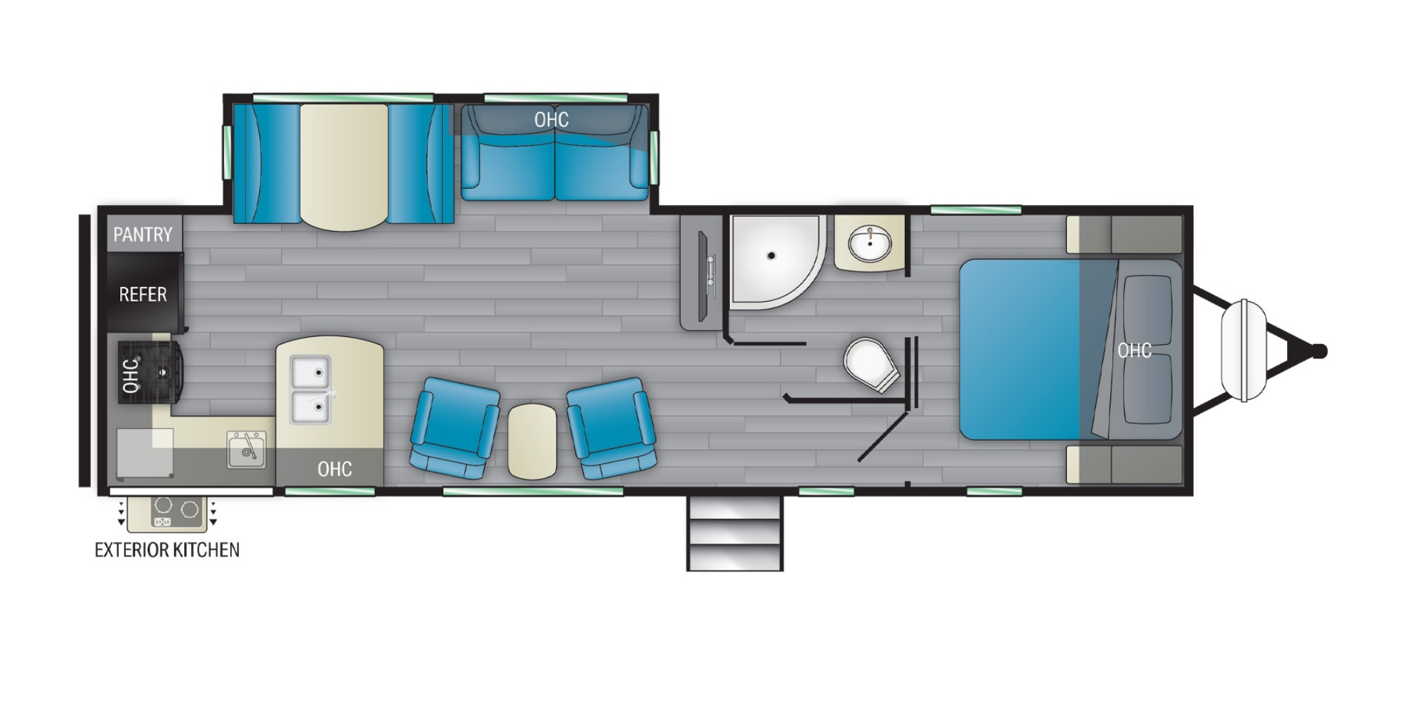 View Floor Plan for 2021 HEARTLAND NORTH TRAIL 28RKDS
