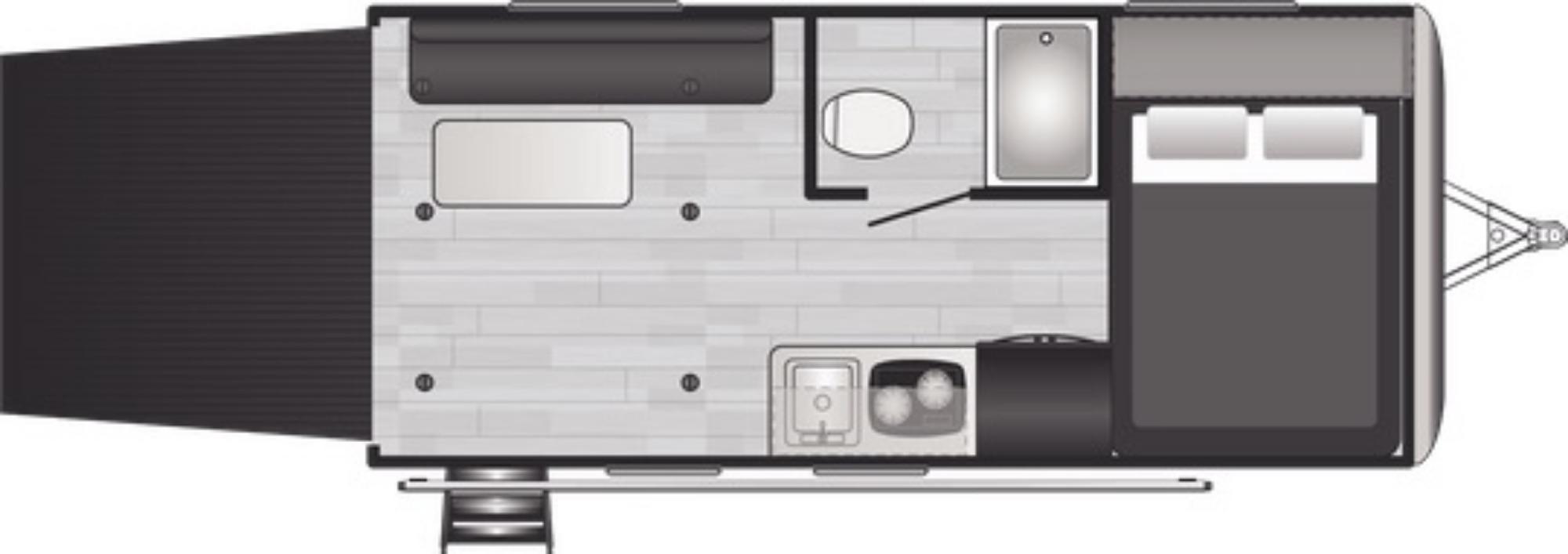 View Floor Plan for 2021 KEYSTONE SPRINGDALE 1720TH