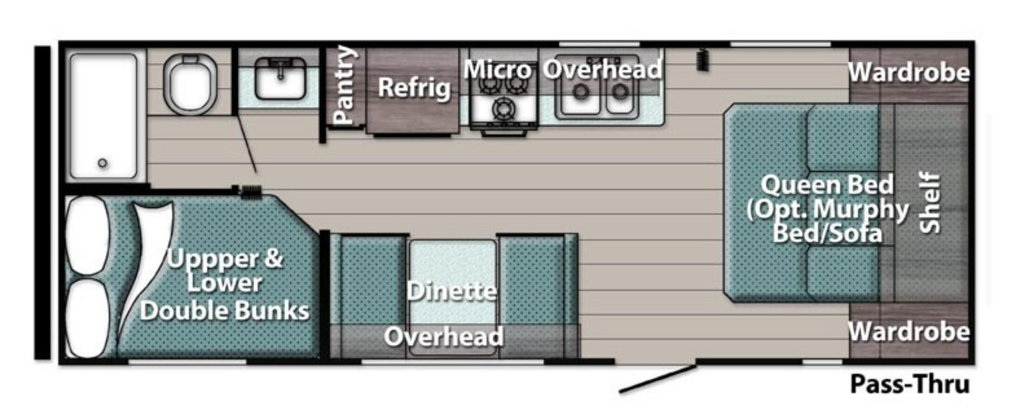 View Floor Plan for 2021 GULF STREAM AMERI-LITE 248BH