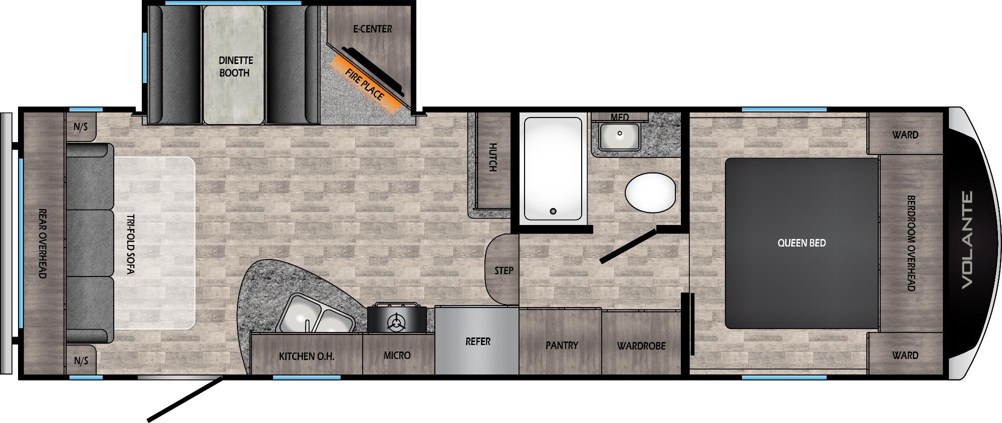 View Floor Plan for 2021 CROSSROADS VOLANTE 240RL