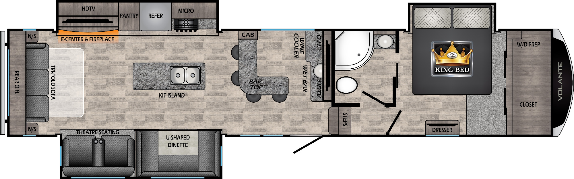 View Floor Plan for 2021 CROSSROADS VOLANTE 370BR