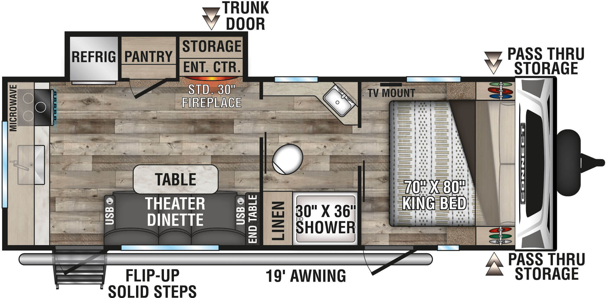View Floor Plan for 2021 K-Z RV CONNECT 231RK