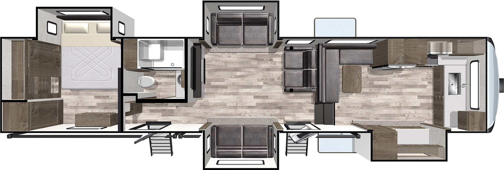 View Floor Plan for 2021 FOREST RIVER CARDINAL LIMITED 402FKLE