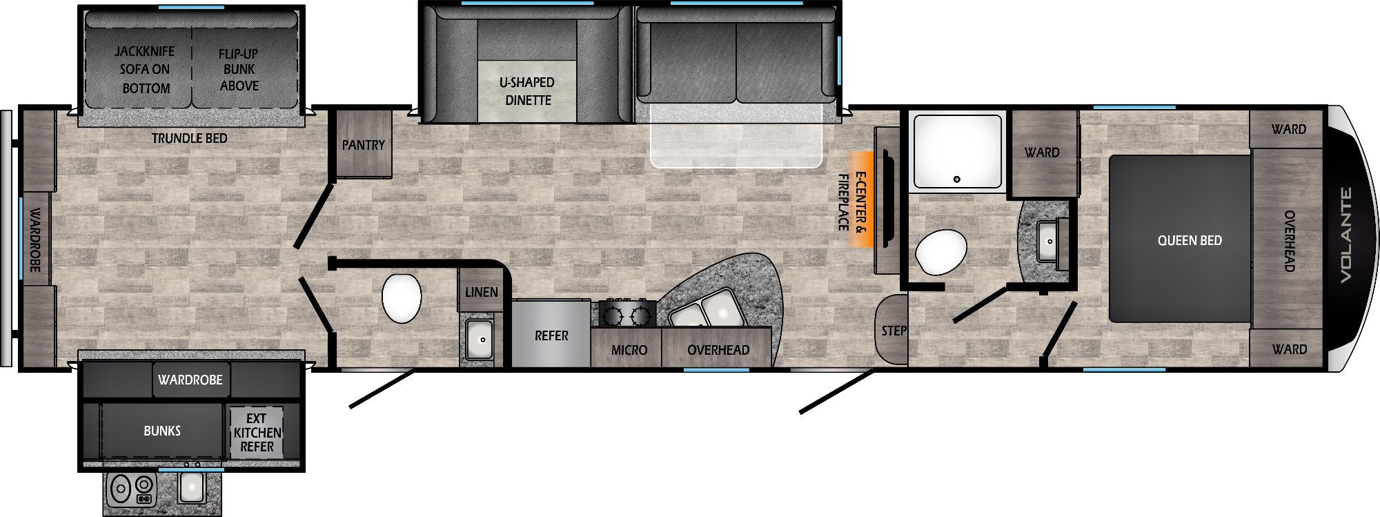 View Floor Plan for 2021 CROSSROADS VOLANTE 360DB