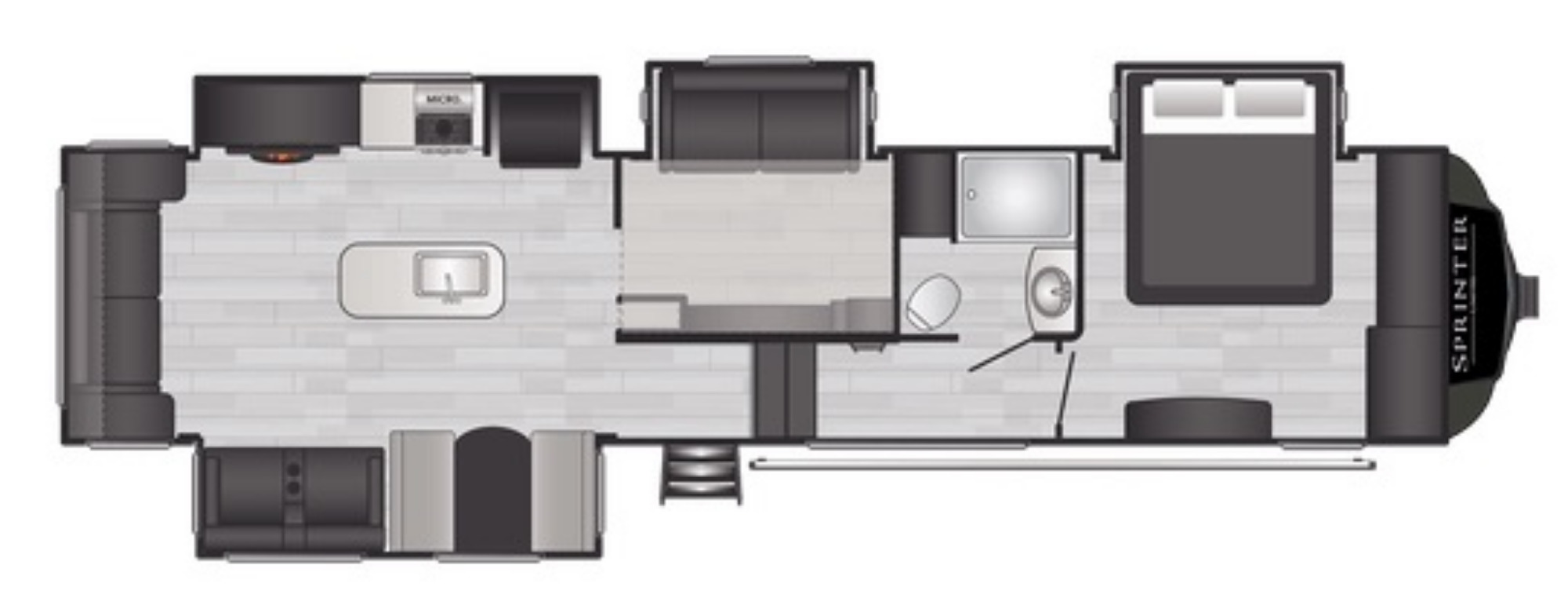 View Floor Plan for 2021 KEYSTONE SPRINTER LIMITED 3590LFT