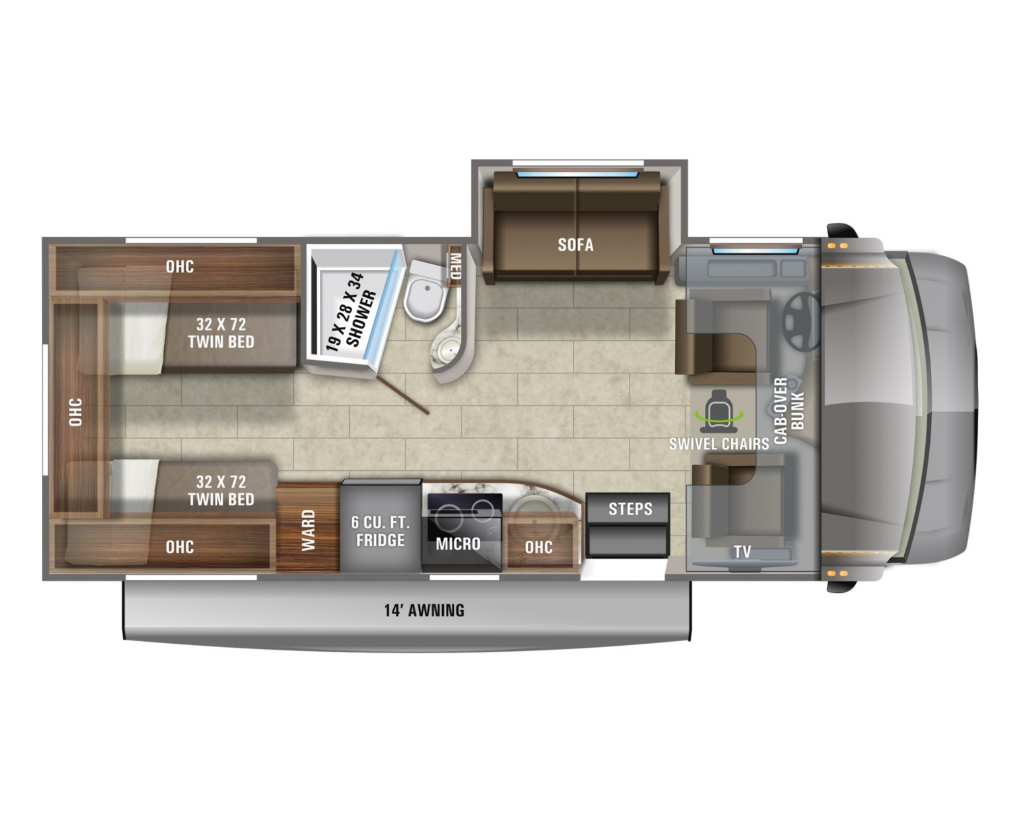 View Floor Plan for 2021 JAYCO MELBOURNE 24T