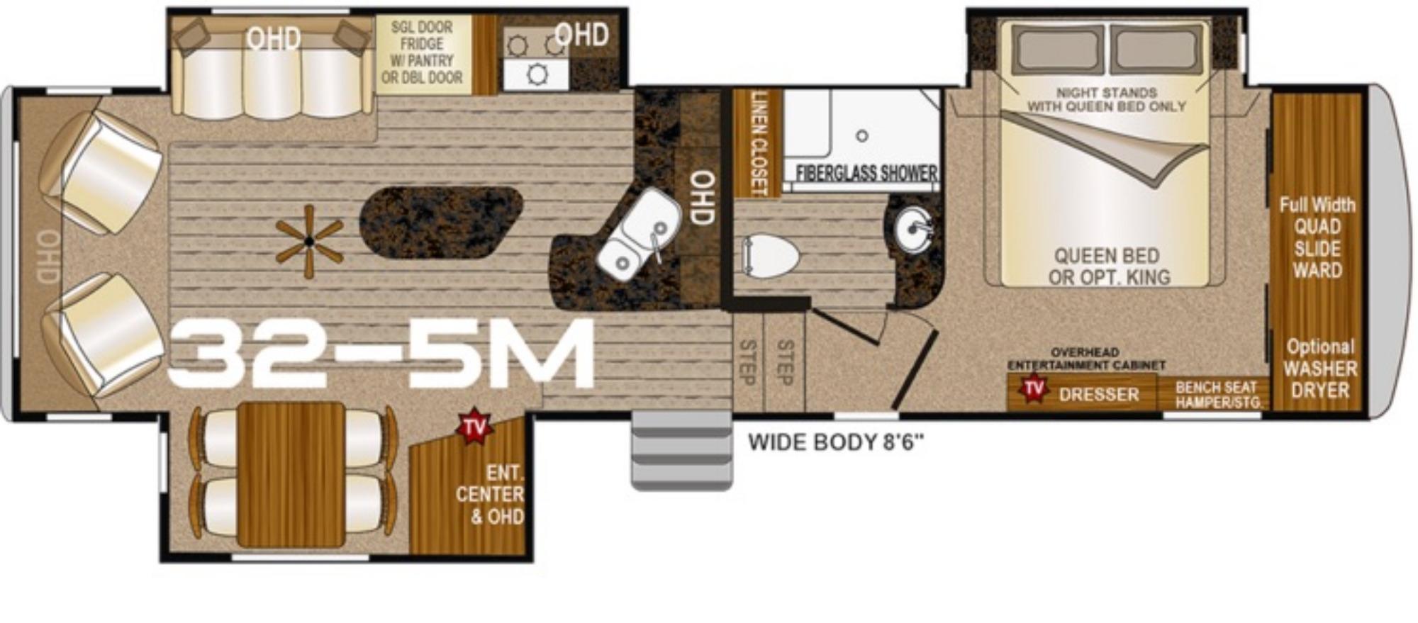 View Floor Plan for 2021 NORTHWOOD ARCTIC FOX GRANDE RONDE 32-5M
