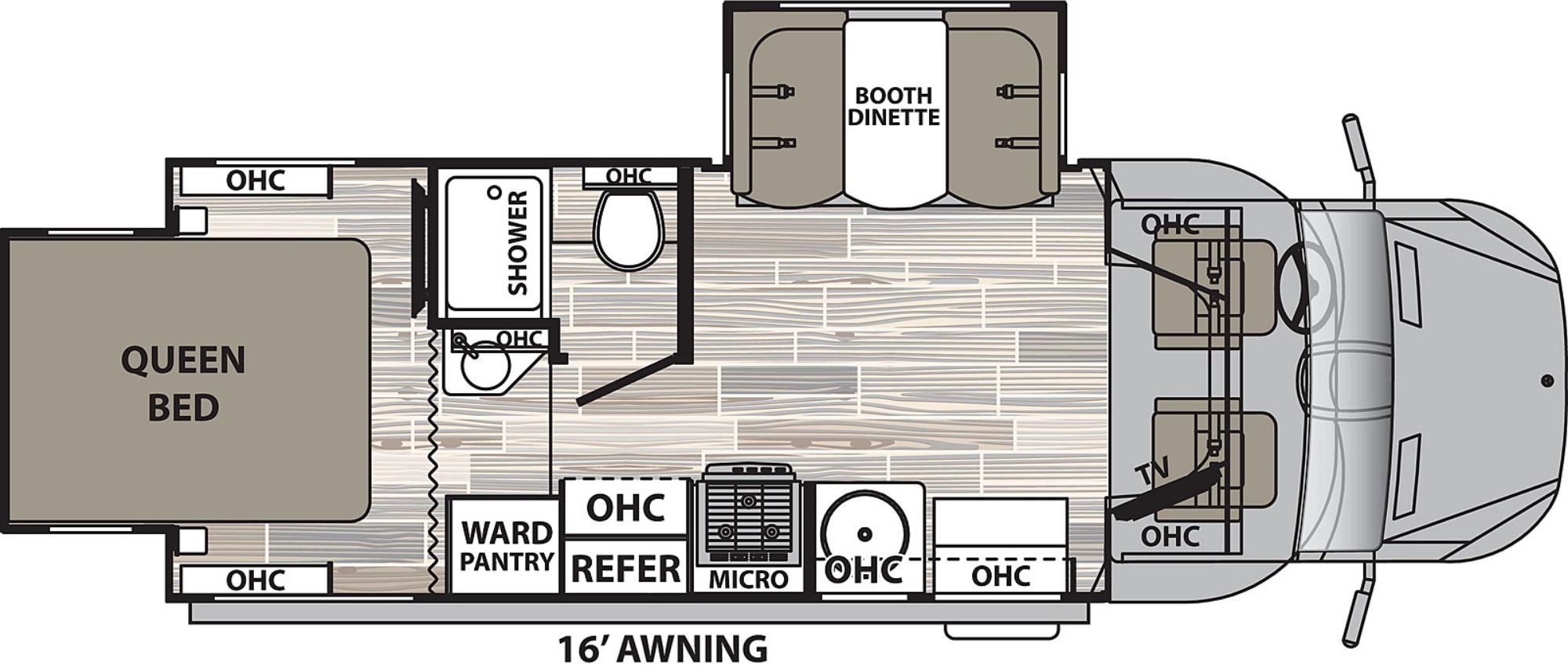 View Floor Plan for 2021 DYNAMAX ISATA 3 24RW