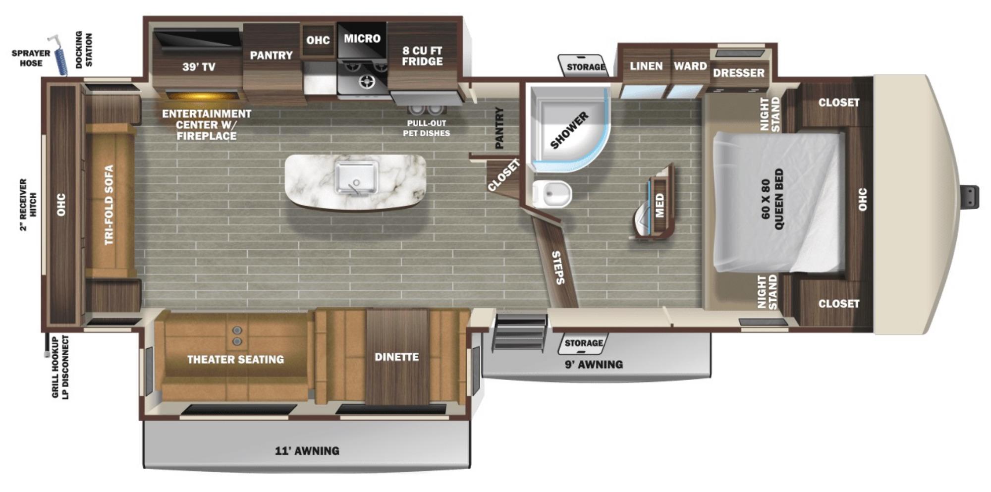 View Floor Plan for 2021 STARCRAFT TELLURIDE 292RLS