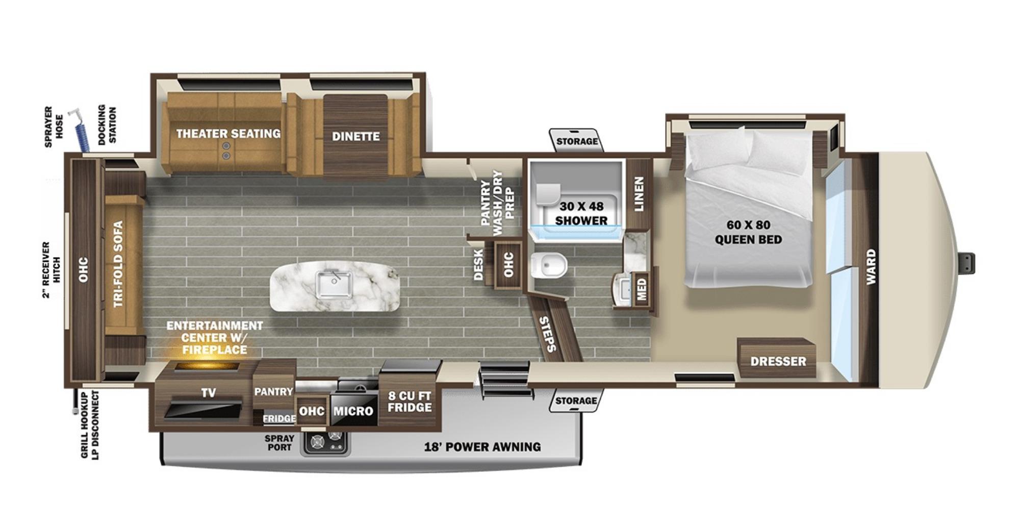 View Floor Plan for 2021 STARCRAFT TELLURIDE 334RLS
