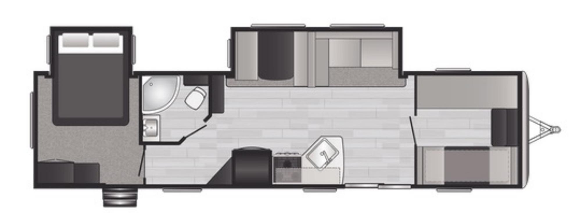 View Floor Plan for 2021 KEYSTONE SPRINGDALE 38BH