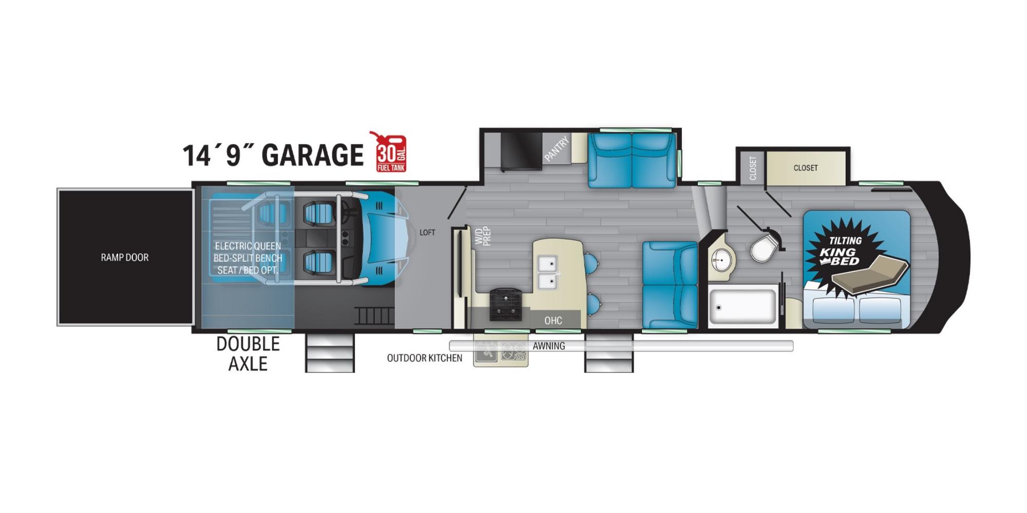View Floor Plan for 2021 HEARTLAND TORQUE 378