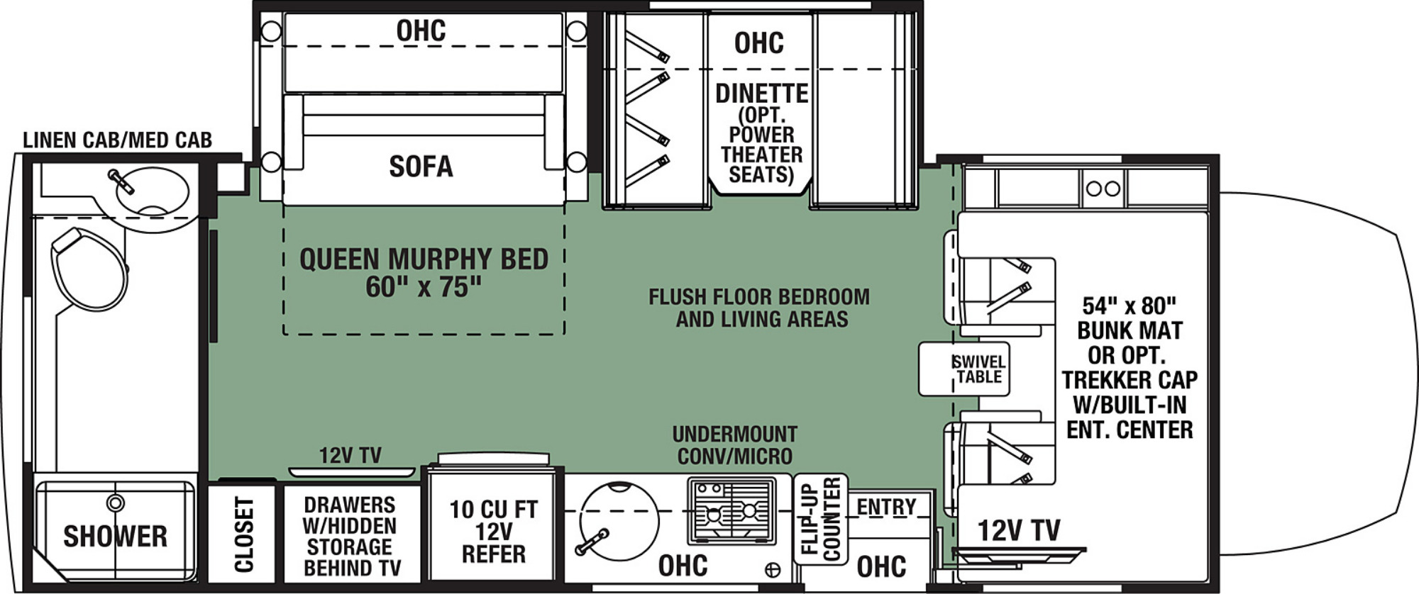 View Floor Plan for 2021 FOREST RIVER FORESTER MBS 2401T