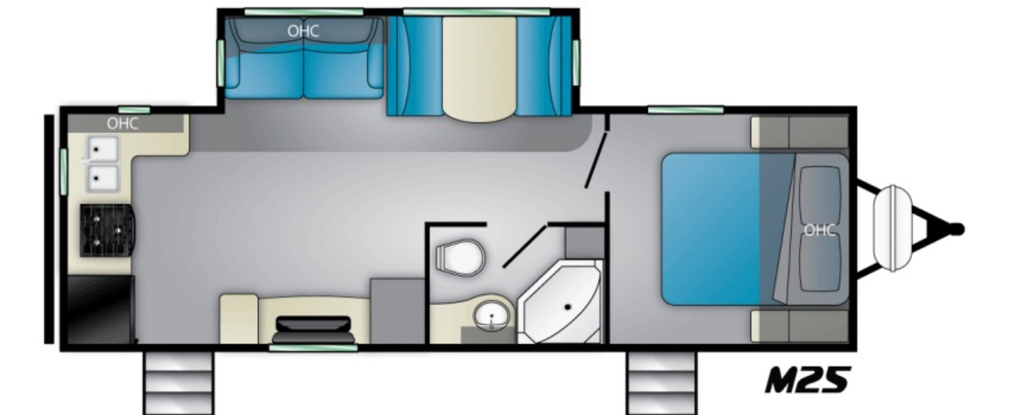 View Floor Plan for 2021 HEARTLAND MALLARD M25