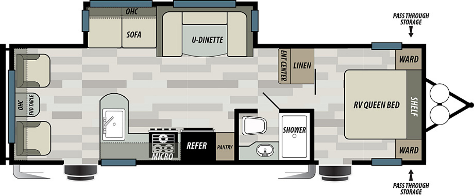 View Floor Plan for 2021 FOREST RIVER EVO T2600