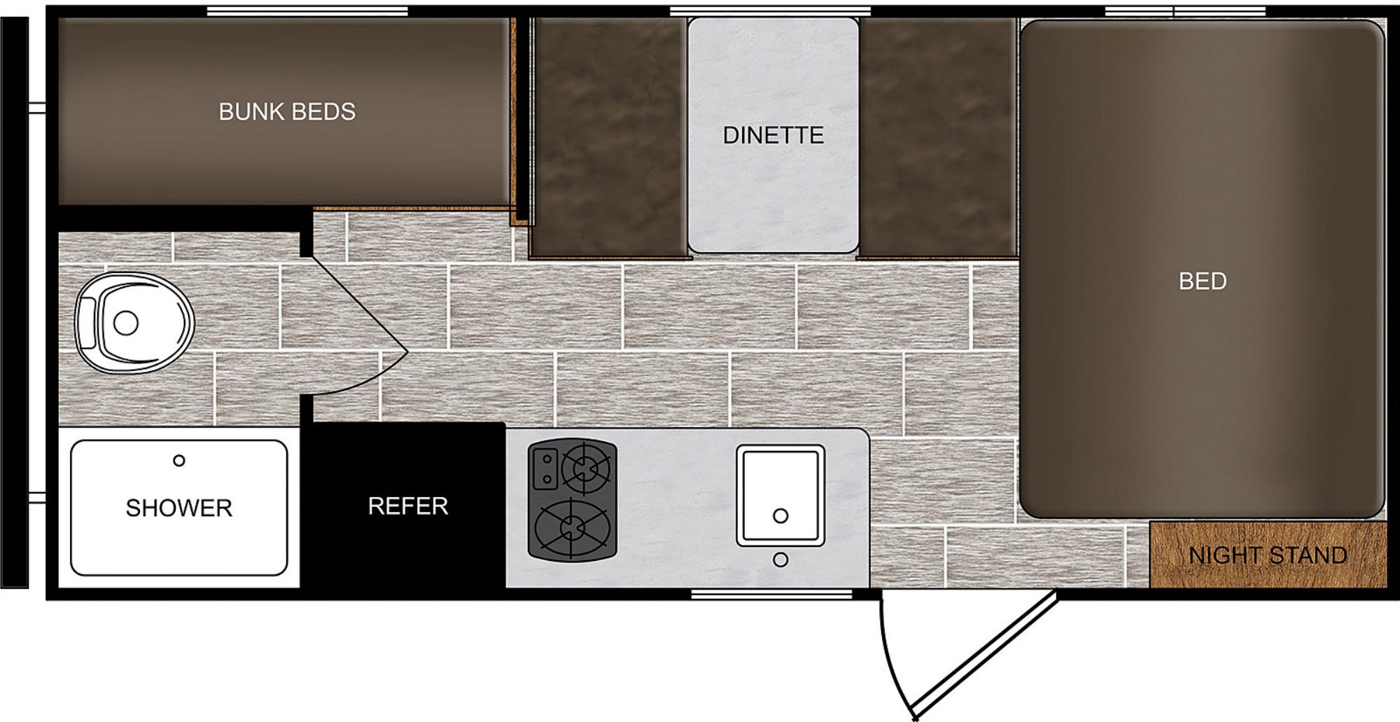 View Floor Plan for 2021 PRIME TIME AVENGER 16BH