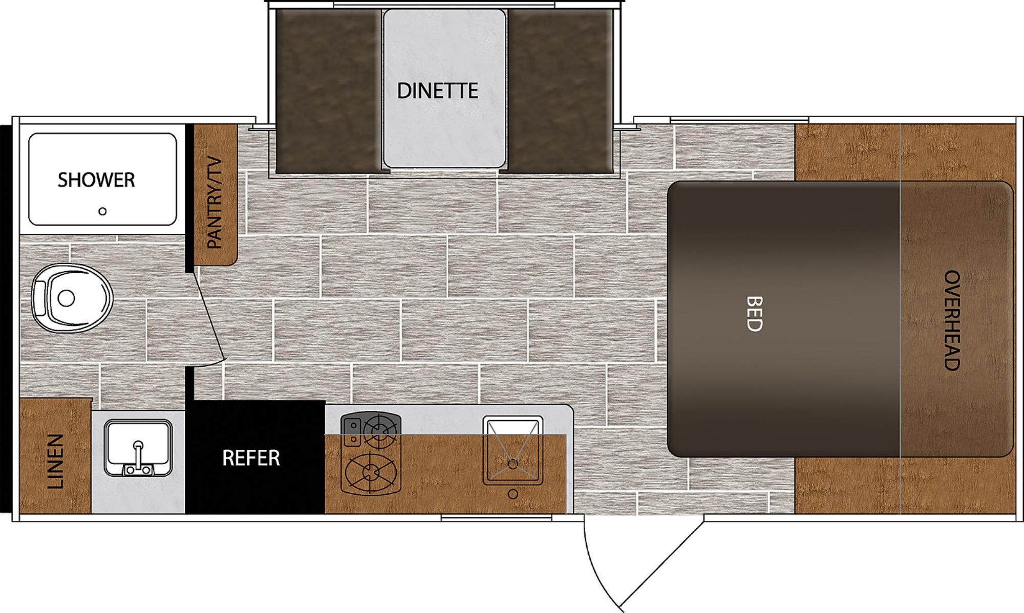 View Floor Plan for 2021 PRIME TIME AVENGER 17FQS