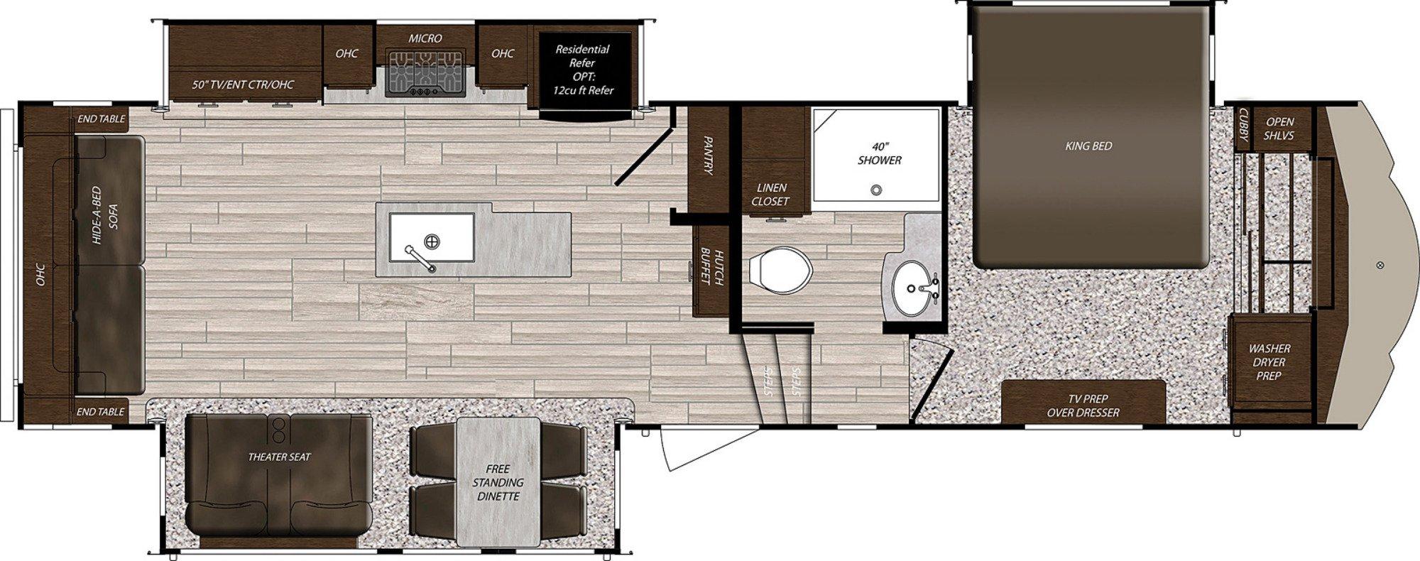 View Floor Plan for 2021 PRIME TIME SANIBEL 3102RSWB