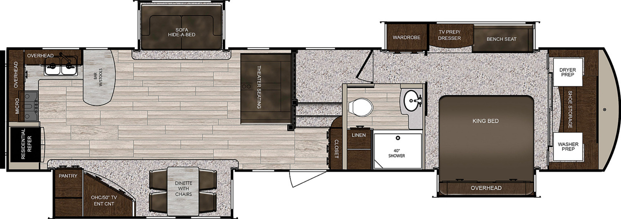 View Floor Plan for 2021 PRIME TIME SANIBEL 3702WB