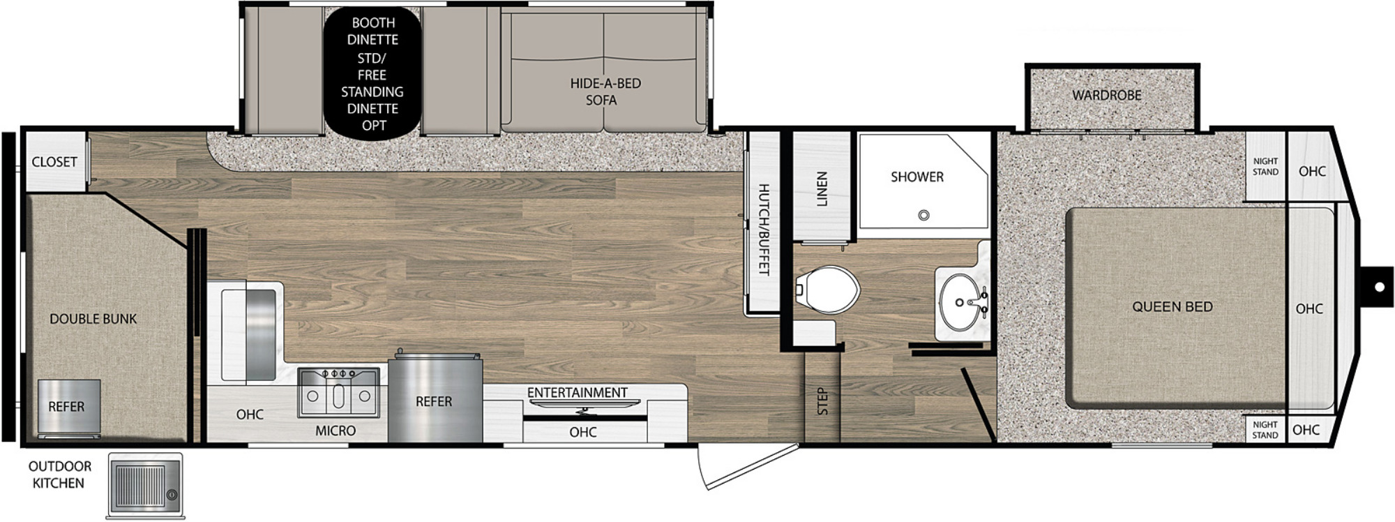 View Floor Plan for 2021 PRIME TIME CRUSADER LITE 29BB