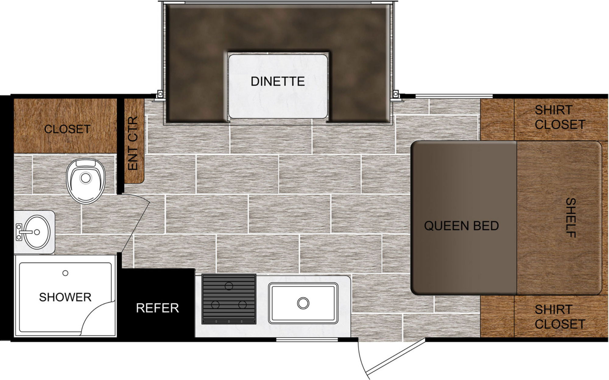 View Floor Plan for 2021 PRIME TIME TRACER 190RBSLE