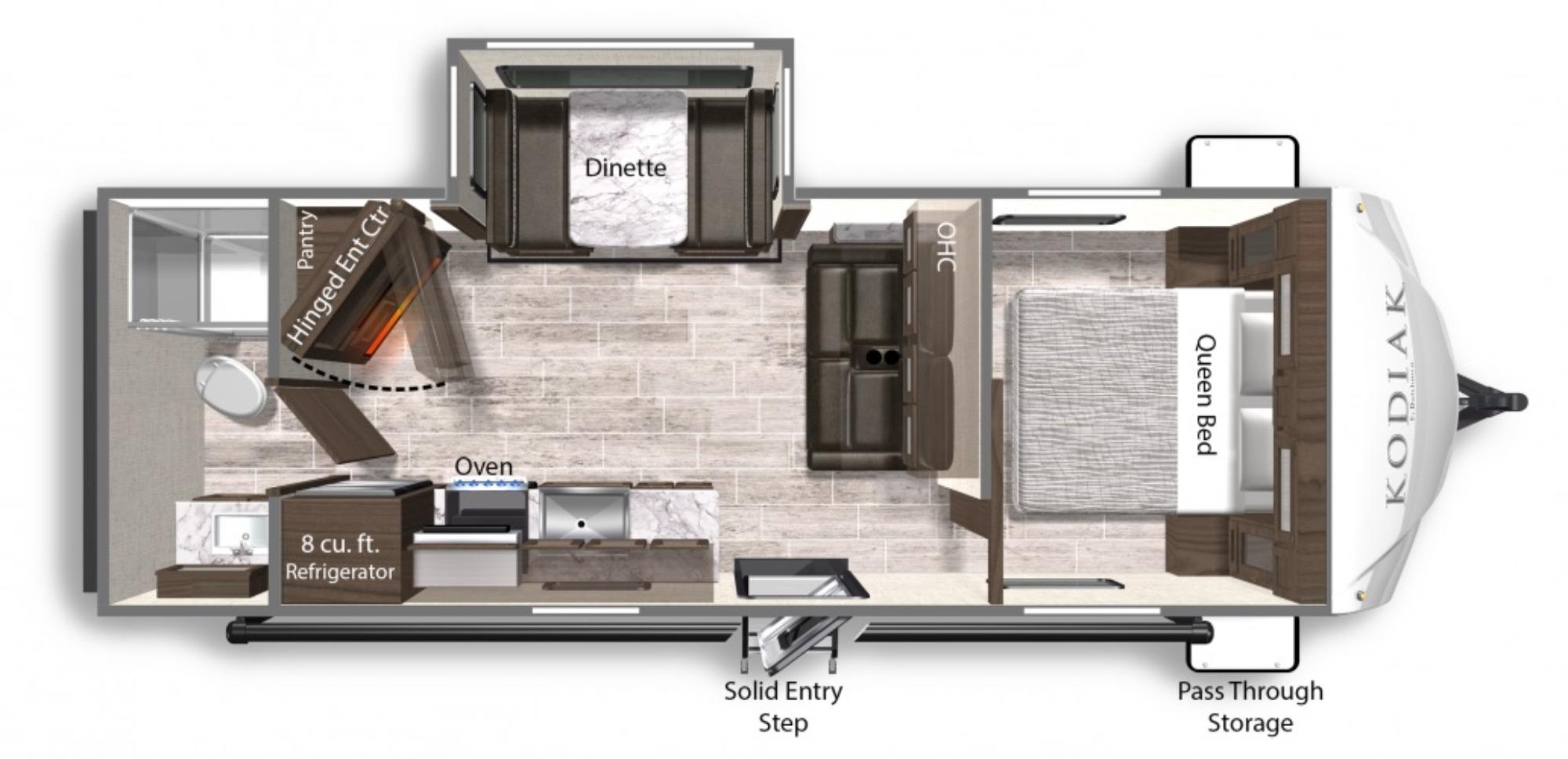 View Floor Plan for 2021 DUTCHMEN KODIAK 242RBSL