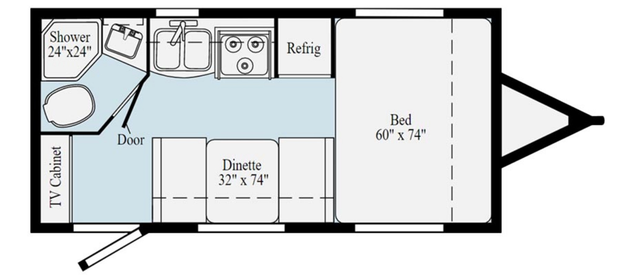 View Floor Plan for 2021 WINNEBAGO MICRO MINNIE 1708FB