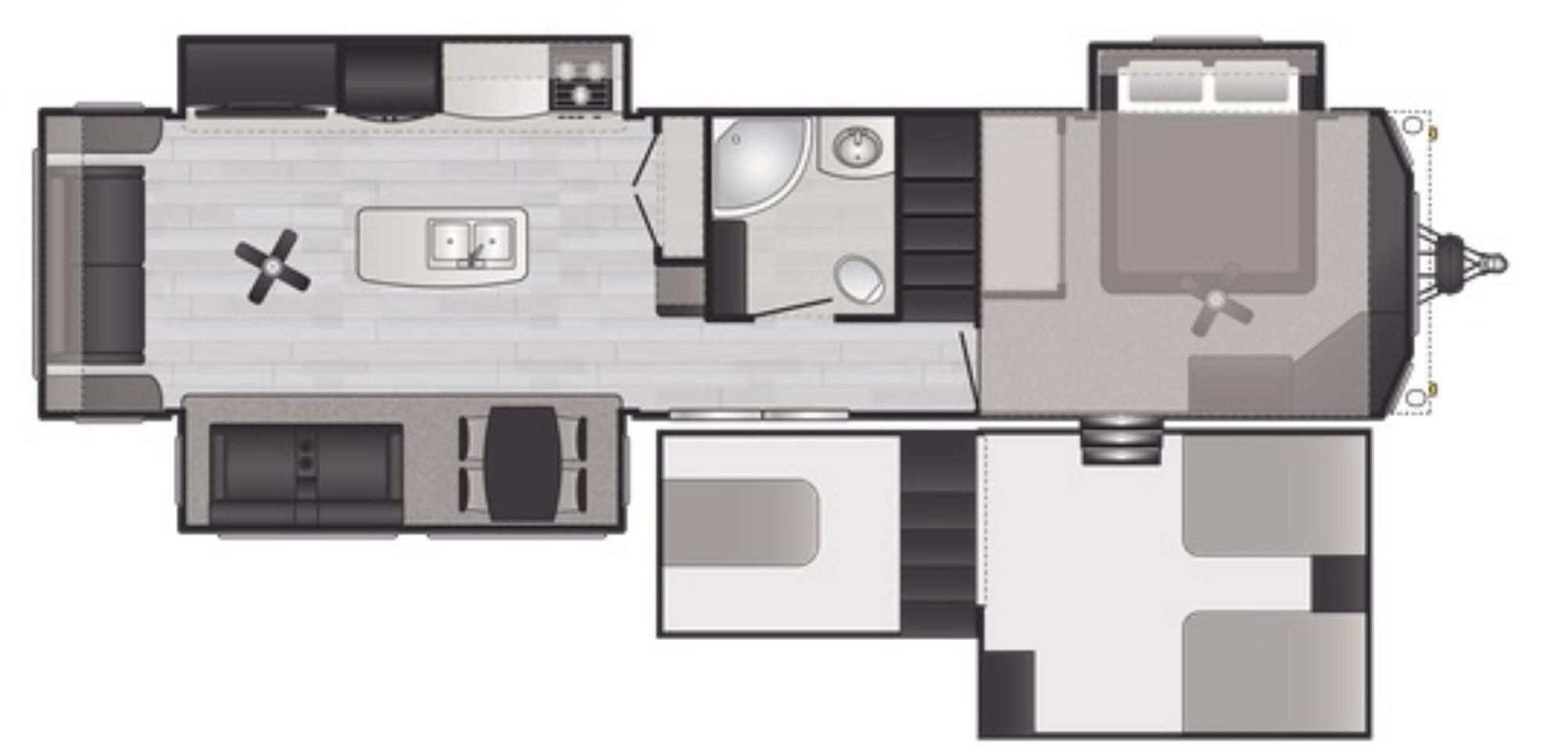 View Floor Plan for 2021 KEYSTONE RETREAT 391FLFT