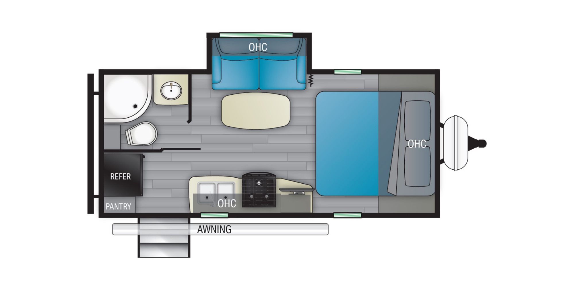 View Floor Plan for 2021 HEARTLAND NORTH TRAIL 21RBSS