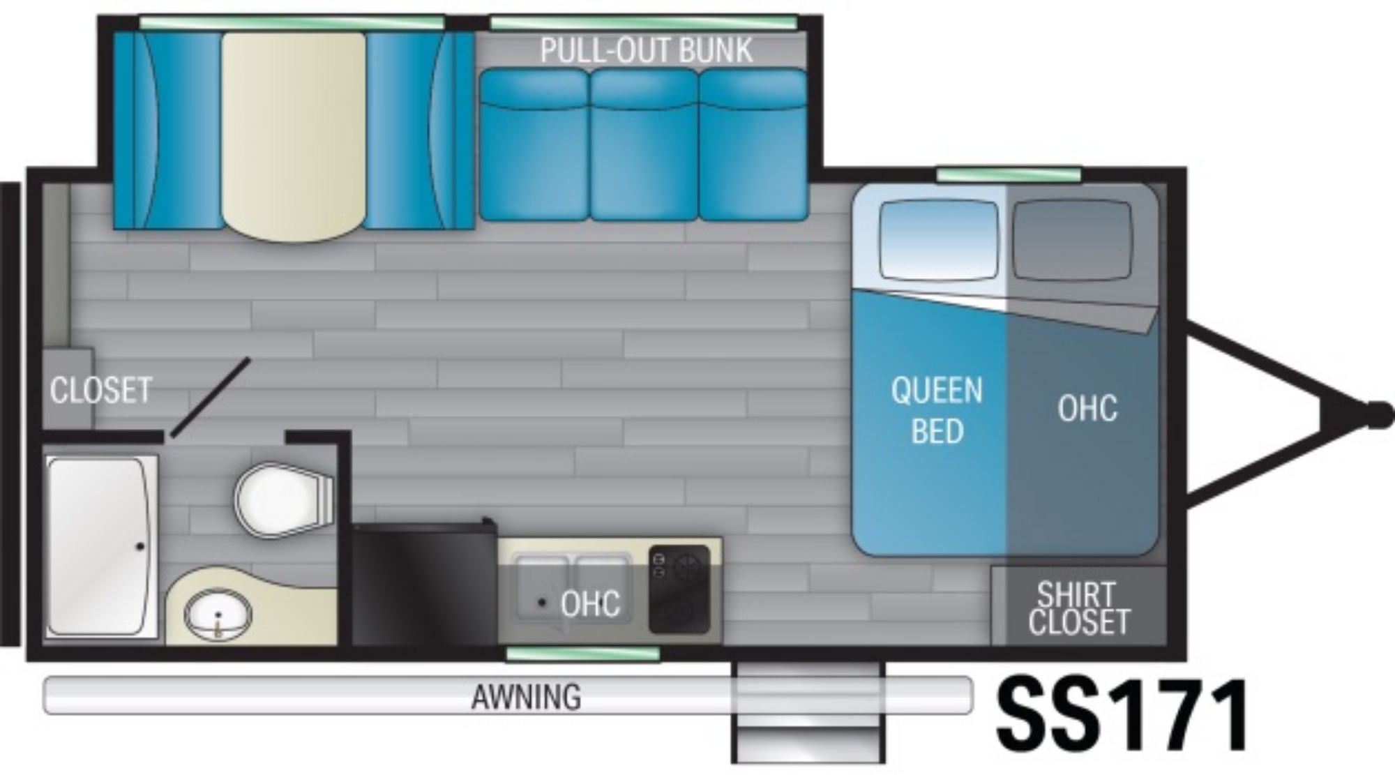 View Floor Plan for 2021 HEARTLAND PIONEER SS171