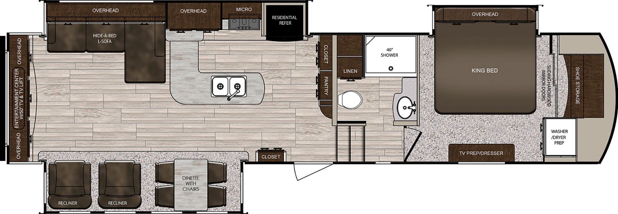 View Floor Plan for 2021 PRIME TIME SANIBEL 3402WB