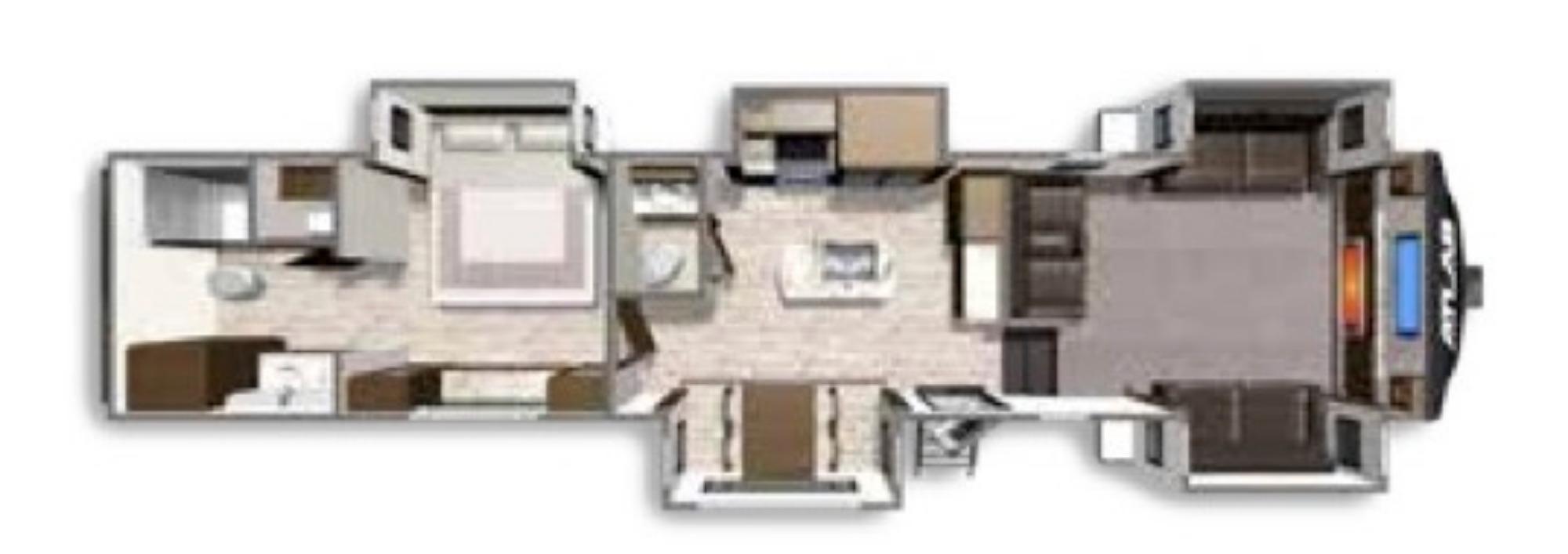 View Floor Plan for 2021 DUTCHMEN ATLAS 3802FLKB