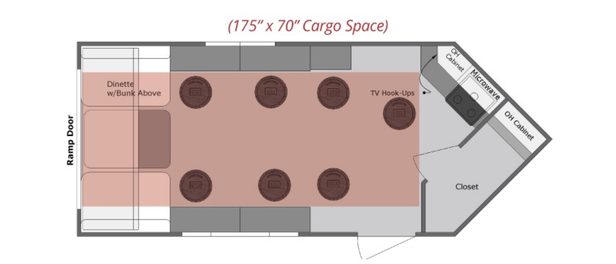 View Floor Plan for 2021 VOYAGER YETTI T816-DK
