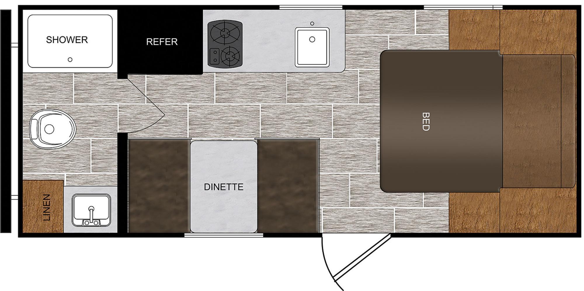 View Floor Plan for 2021 PRIME TIME AVENGER 16FQ