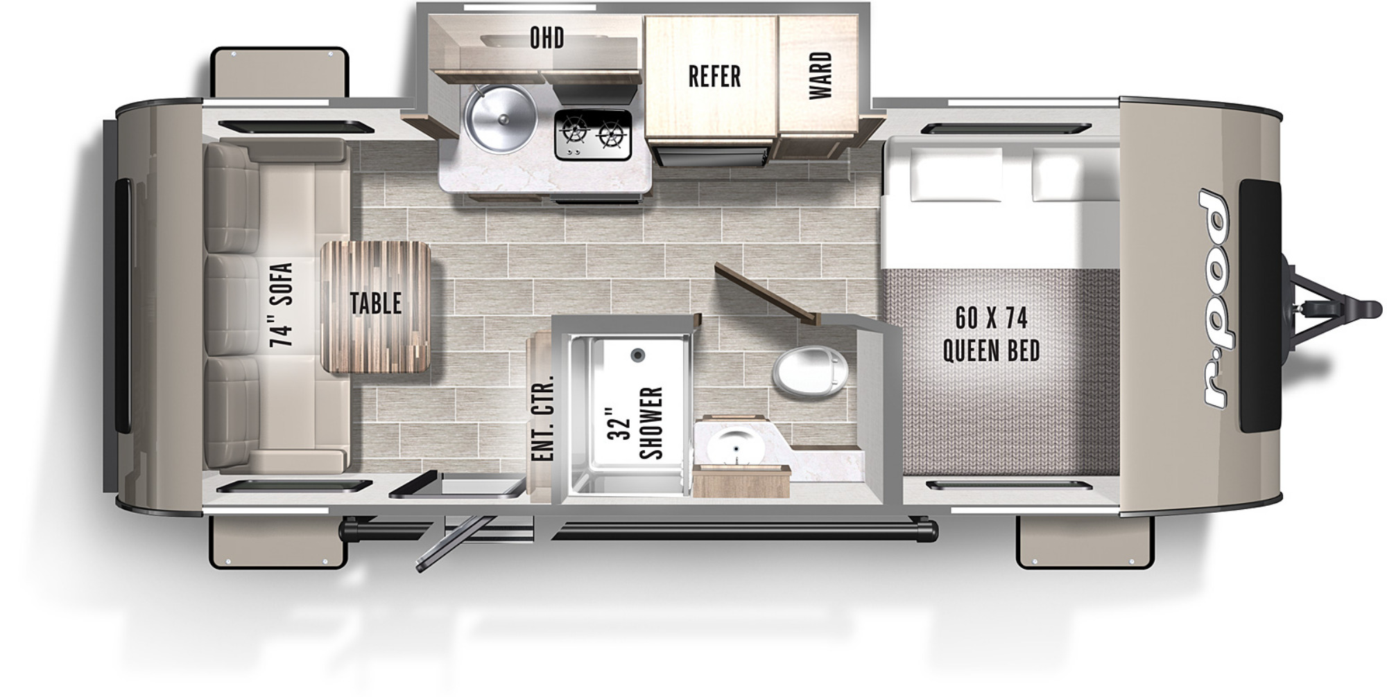 View Floor Plan for 2021 FOREST RIVER R-POD 189