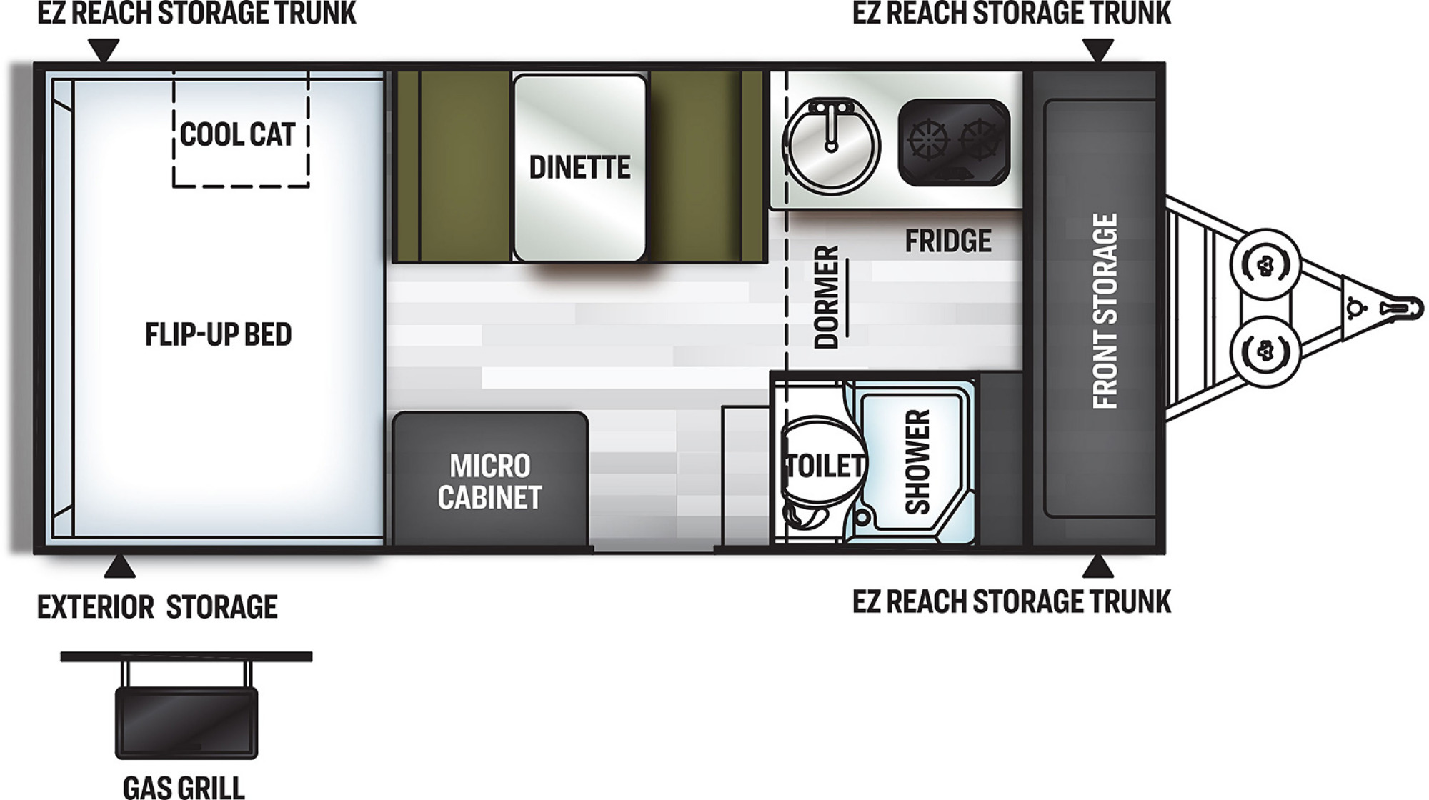 View Floor Plan for 2021 FOREST RIVER FLAGSTAFF HARD SIDE T21DMHW