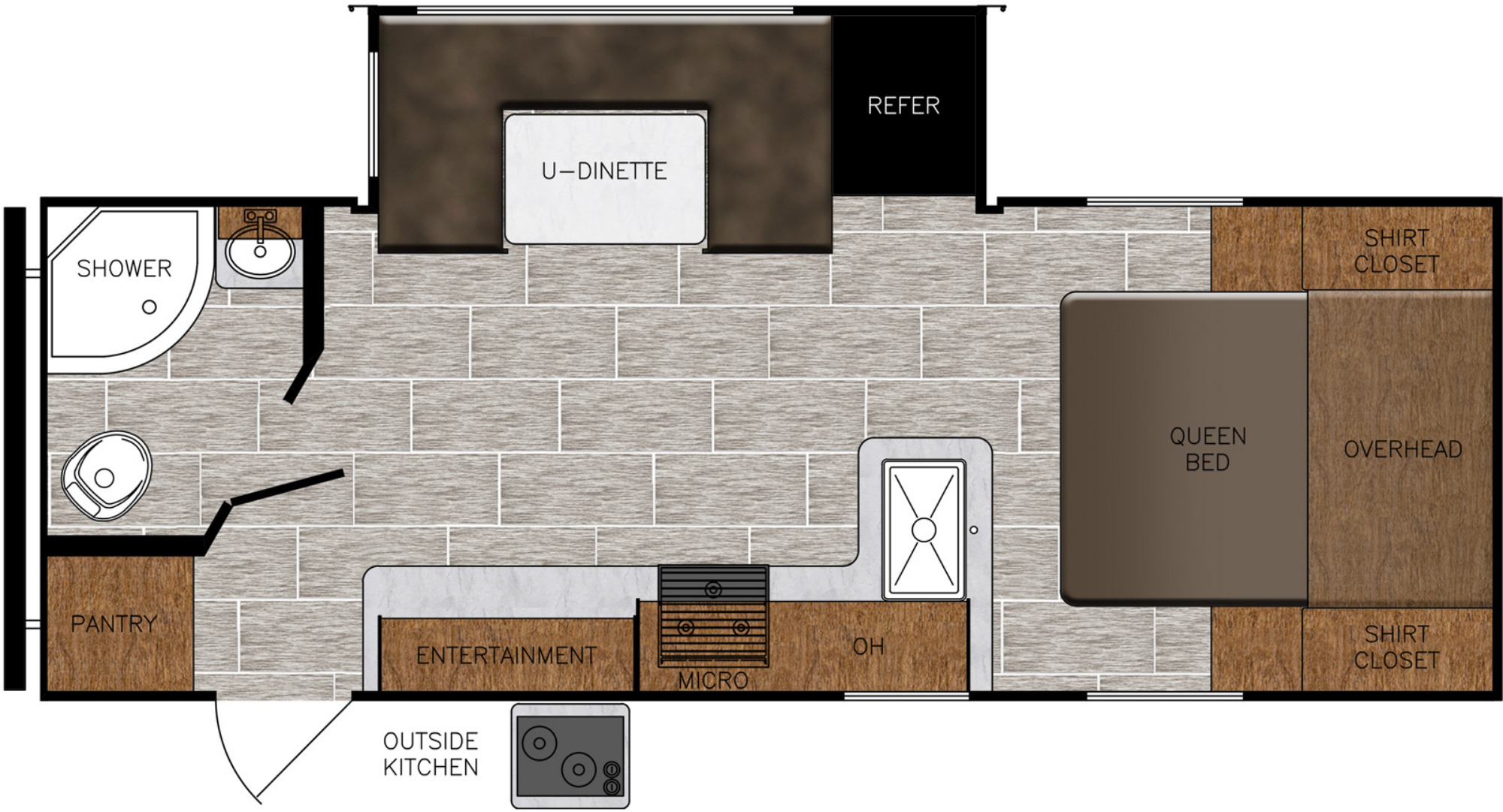 View Floor Plan for 2021 PRIME TIME TRACER 22RBS