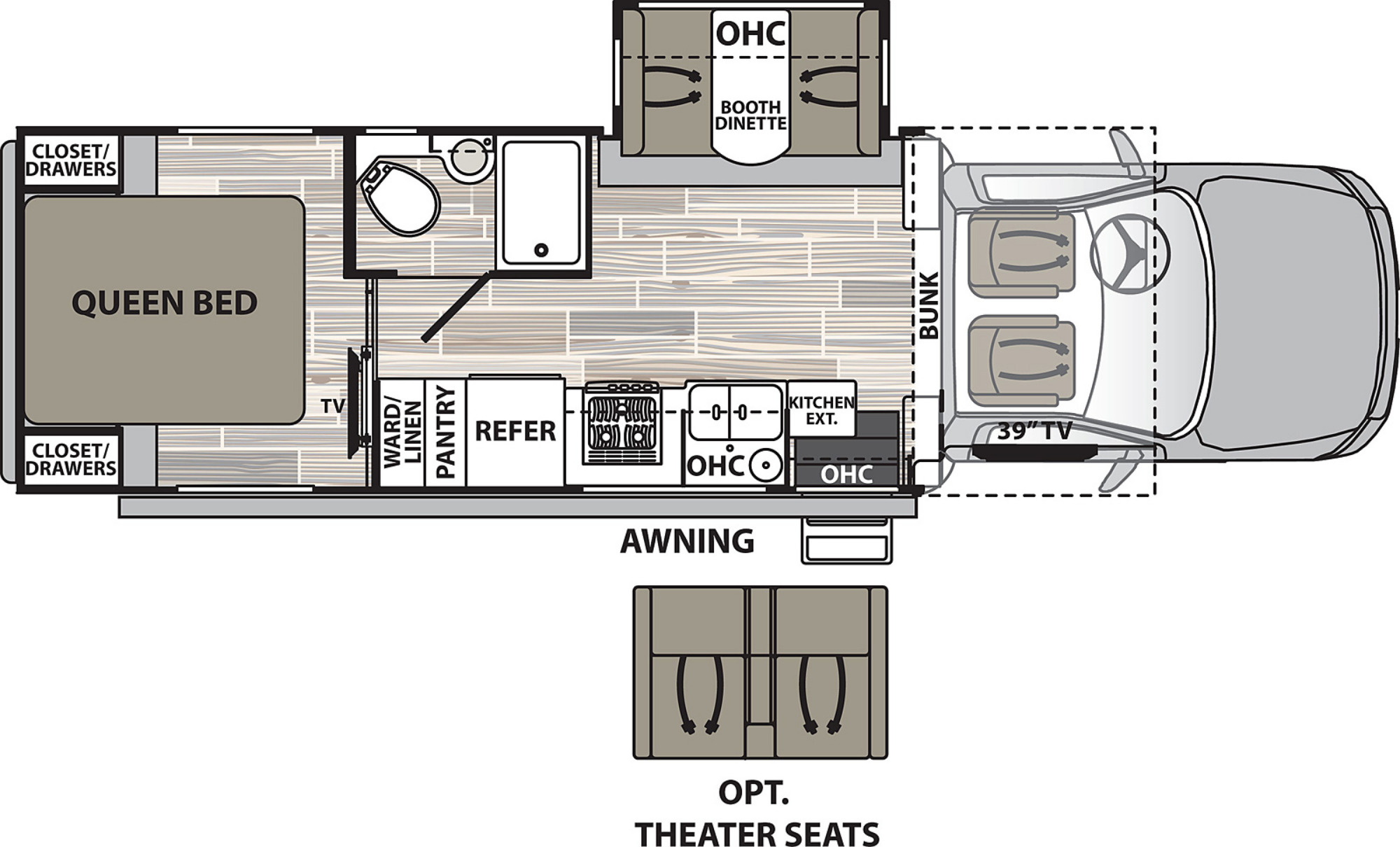 View Floor Plan for 2021 DYNAMAX ISATA 5 28SS4X4