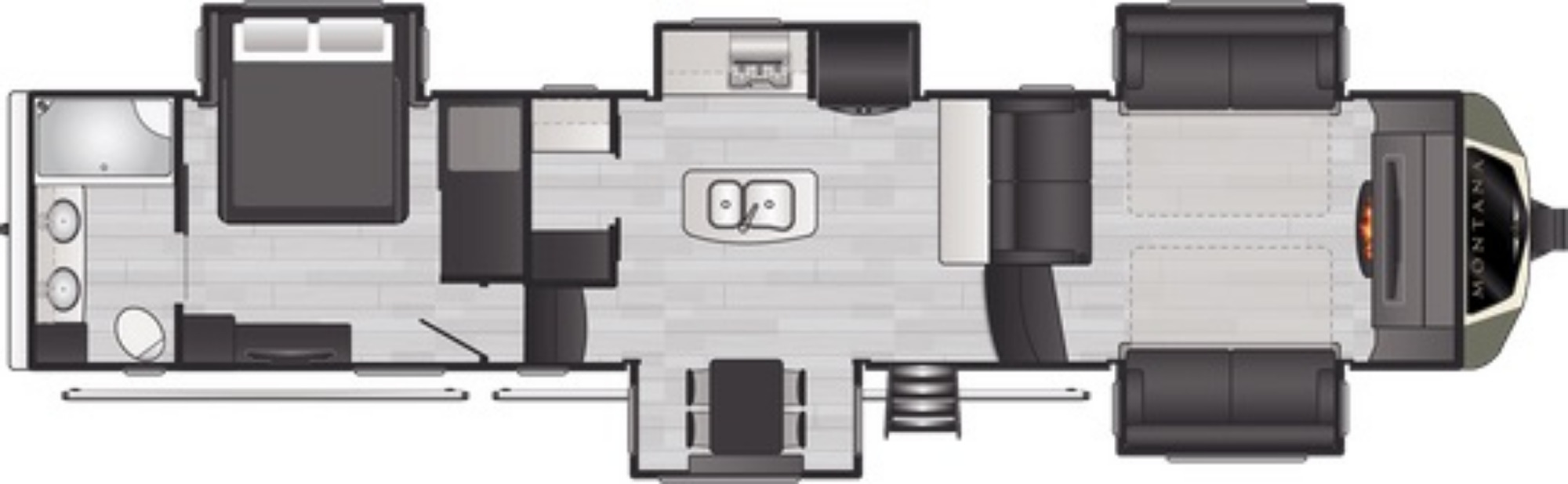 View Floor Plan for 2021 KEYSTONE MONTANA 3762BP