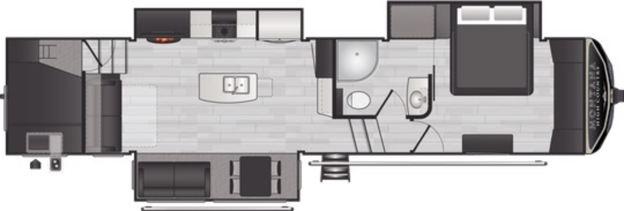 View Floor Plan for 2021 KEYSTONE MONTANA HIGH COUNTRY 351BH