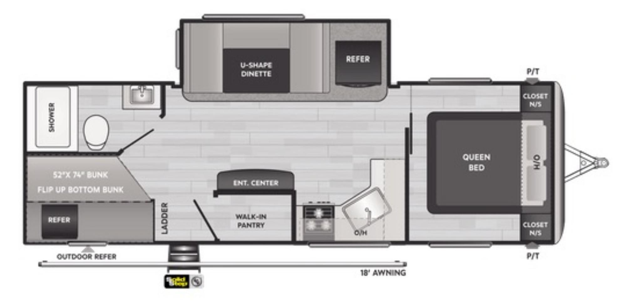 View Floor Plan for 2021 KEYSTONE SPRINGDALE 251BH