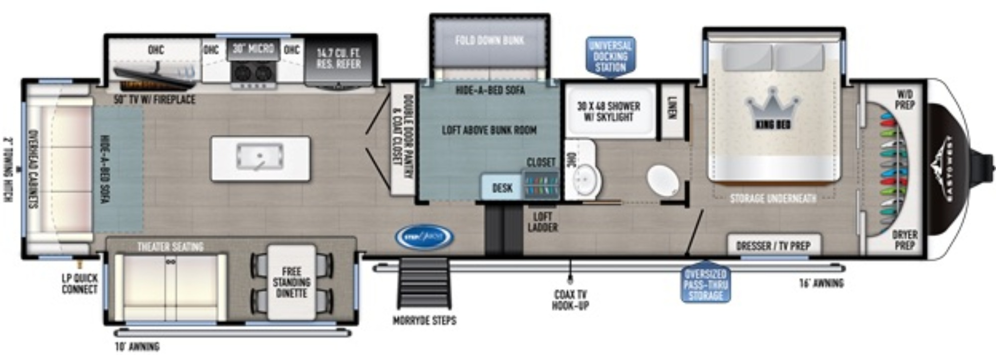 View Floor Plan for 2021 EAST TO WEST TANDARA 385MB