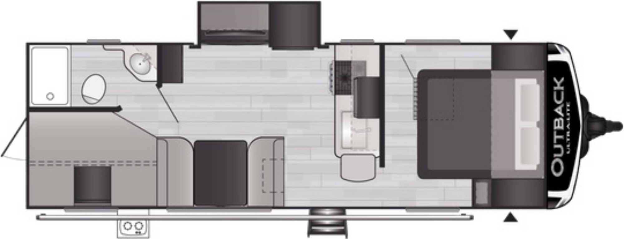 View Floor Plan for 2021 KEYSTONE OUTBACK ULTRA-LITE 244UBH