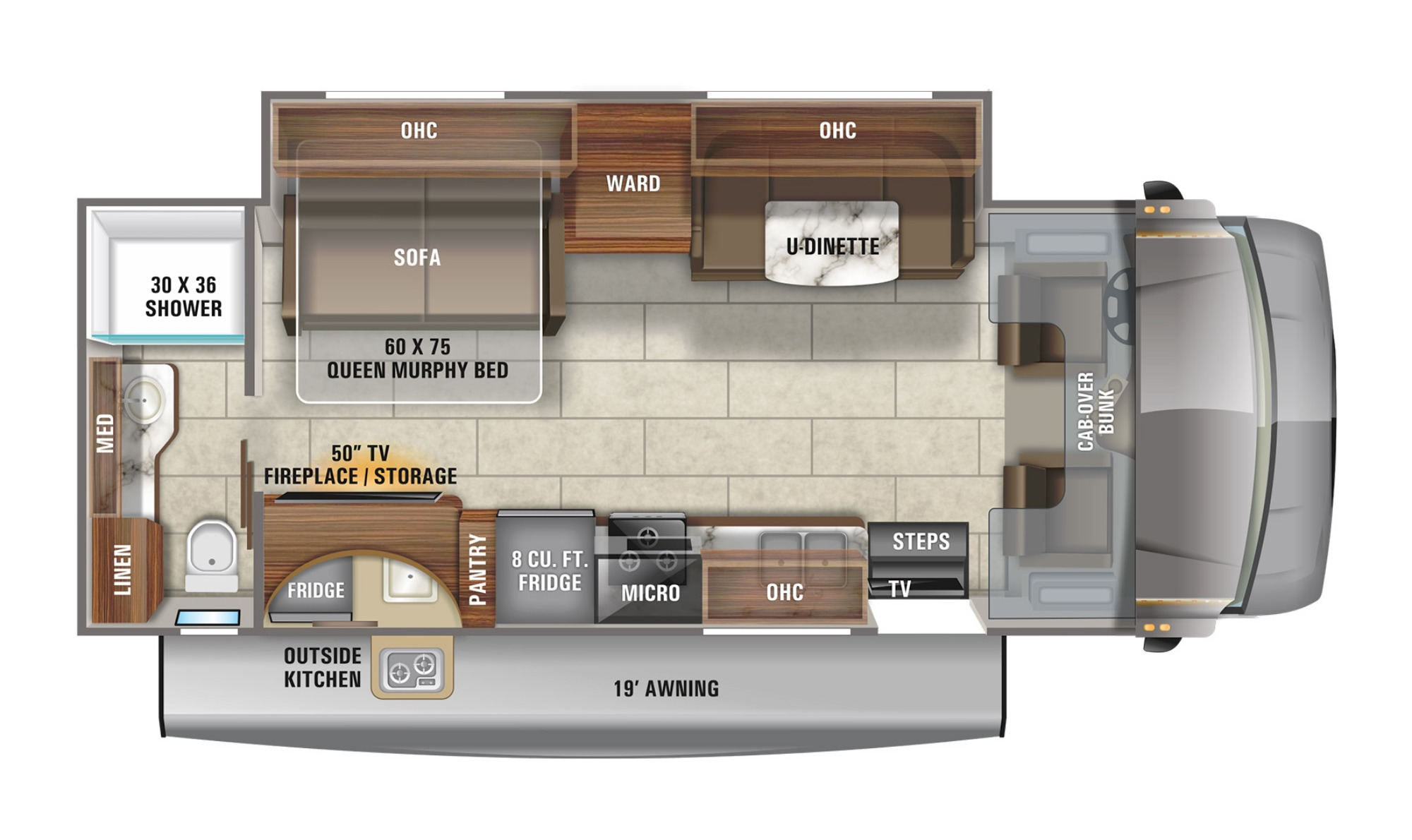 View Floor Plan for 2021 JAYCO REDHAWK 26M